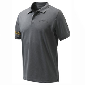 Grey coloured polo shirt from Beretta Clothing