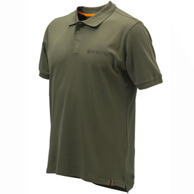Olive coloured polo shirt from Beretta Clothing